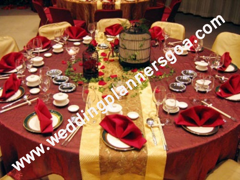 Christian weddings wedding planners goa wedding reception table decor table decor table junglespirit Gallery